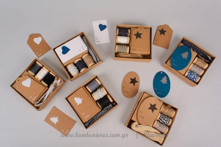 Σετ με υλικά, κορδόνια κι ετικέτες | bombonieres.com.gr