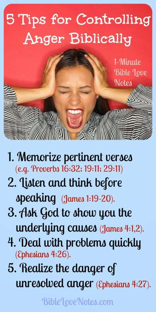 5 Tips for Controlling Anger Biblically. Only God can change us, but these 5 tips, all confirmed with Bible verses, help us yield our will to Jesus and help us overcome our bad temper.