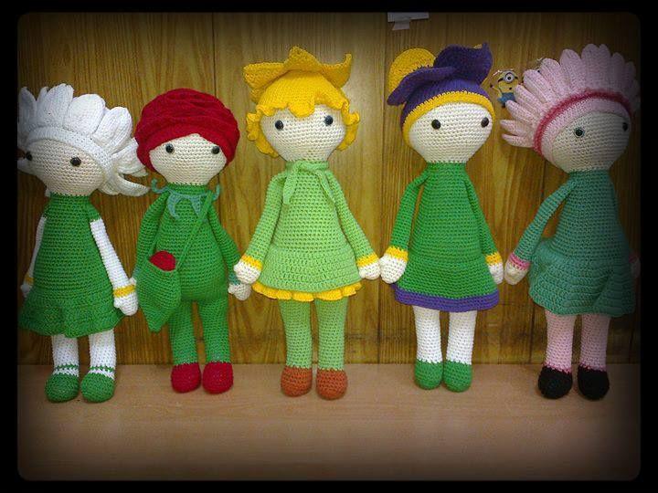 Amigurumi Flower Doll : Amigurumi flower dolls made by Elu P - crochet patterns by ...