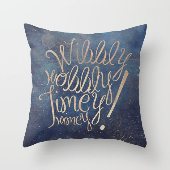 wibbly wobbly doctor who quote throw pillow - Dr Who Bedroom Ideas
