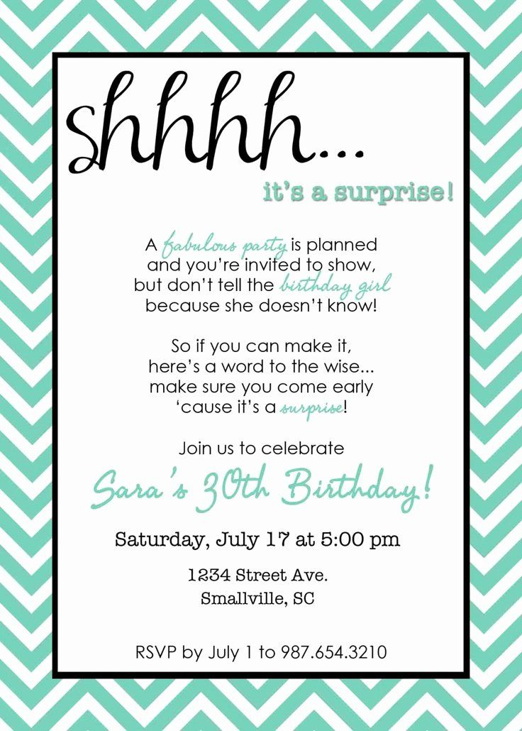 Suprise Birthday Party Invitation Best Of 28 Best Birthday Invitations Images On In 2020 Surprise Party Invitations Party Invite Template Surprise Birthday Invitations