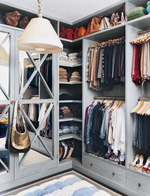 Closet inspiration for an organized space. | http://domino.com