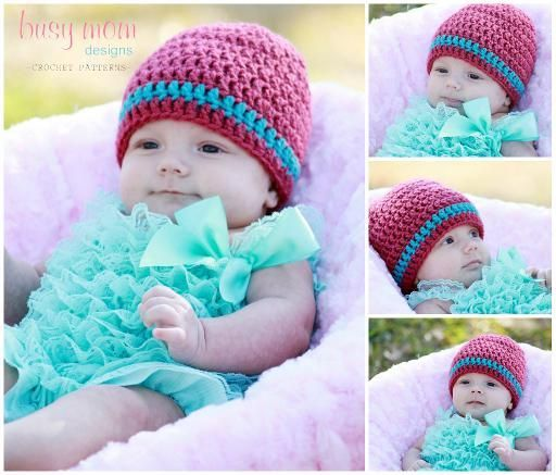 Free crocheting pattern: Basic Beanie
