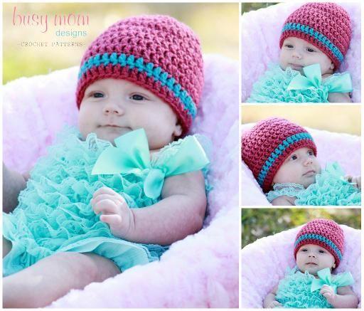 FREE Crochet Pattern: Basic Beanie - ALL SIZES - Easy: Basic Beanie, Hats Patterns, Crochet Basic, Business Mom, Knits Crochet, Free Crochet, Crochet Hats, Free Patterns, Crochet Patterns