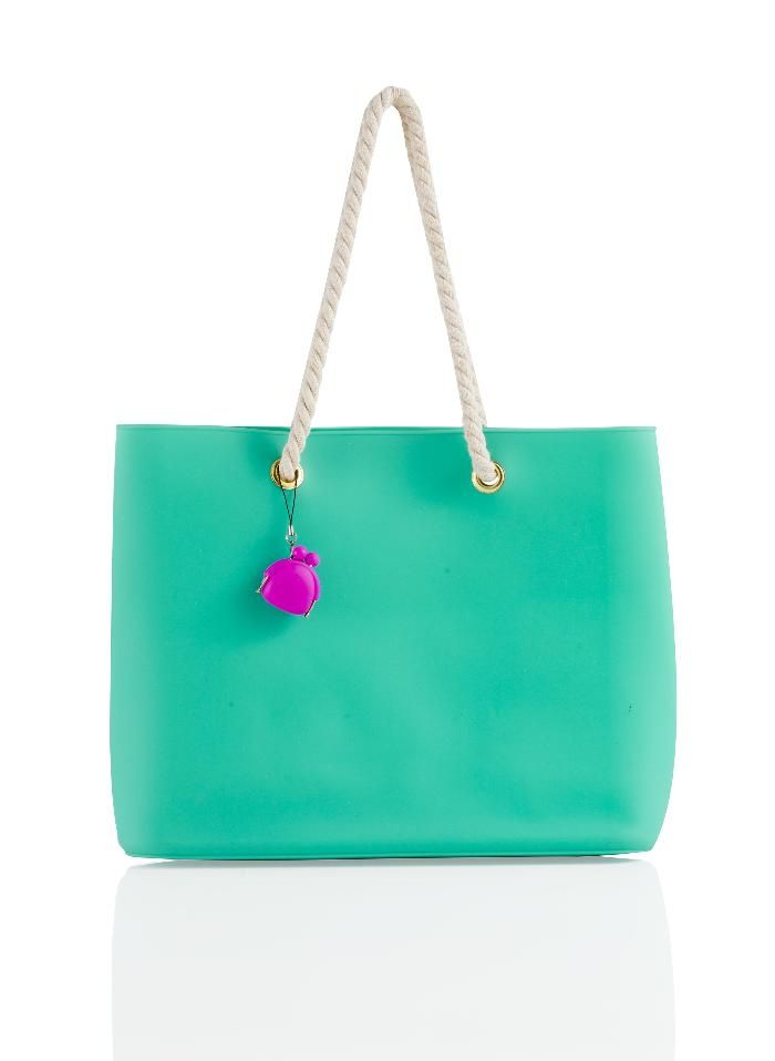 Brandani - Easy Bag fashion smeraldo con manici in corda