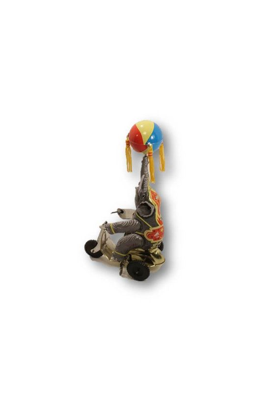Elelphant Toy Wind Up Elephant Toy Home Decor by ClockworkRummage, $25.00