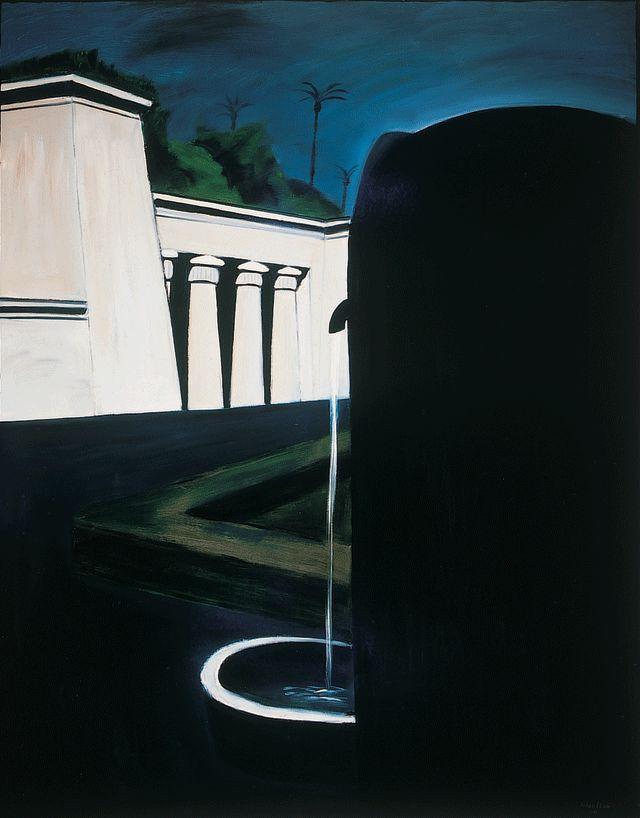 """terminusantequem: """" László Fehér (Hungarian, b.1953) - Rome (1986) - oil on…"""