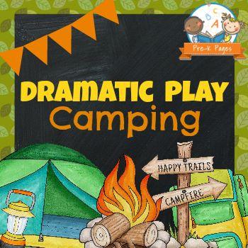 Dramatic Play Camping Printable Kit