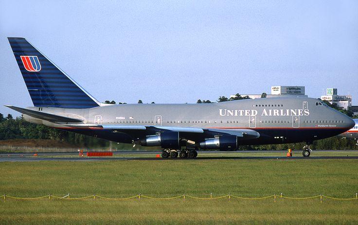 グレーの機体。-ユナイテッド航空 機体デザイン