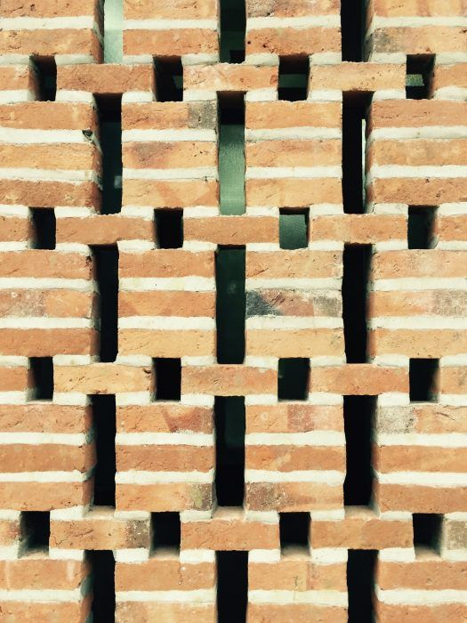 309 best perforated brick screen wall images on for Perforated brick wall