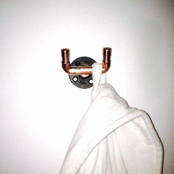 Home Decor Trends Industrial Copper Pipe Bathroom Decor Bath Fixtures Steampunk Decor Repurposed