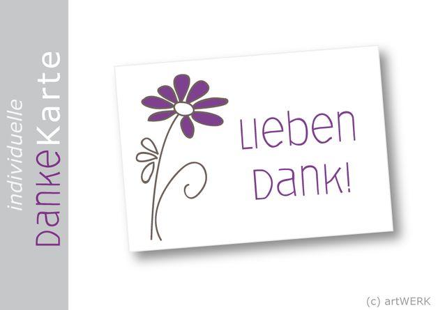 Feine DANKE-Kärtchen im DIN A7 Format, die nach dem Kauf mit dem Wunschtext und der Wunschfarbe personalisiert werden. Die Kärtchen eignen sich hervorragend als Anhänger oder Beileger für Gast-...