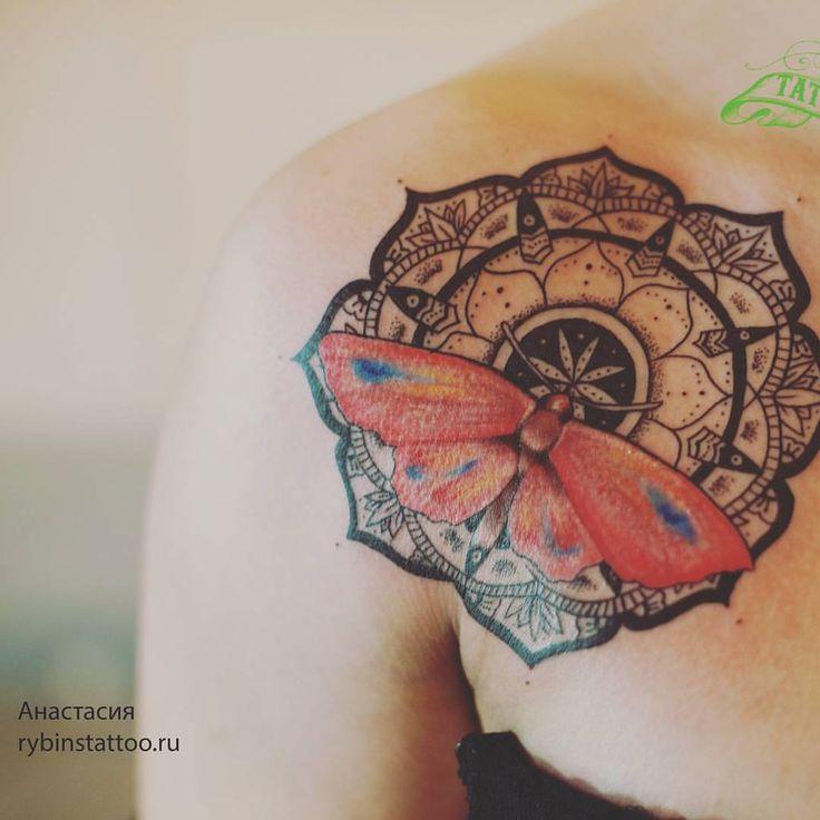 """69 Likes, 4 Comments - Tattoo artist Анастасия (@rybinatattoo) on Instagram: """"Моя новая мандала #тату #татуировка #татуировки #татусалон #татуха #татумастер #татустудия #татушка…"""""""
