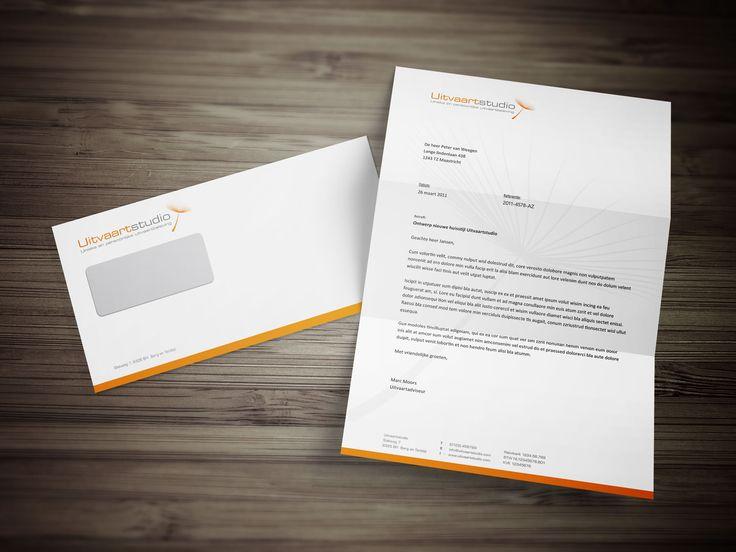 ontwerp briefpapier Uitvaartstudio