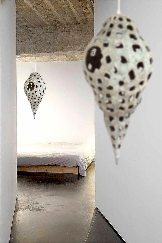 Paper pulp sculpture by Marion Westerman, via Behance