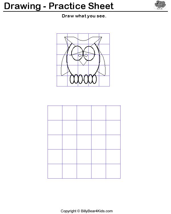 Drawing Lines With Php : Drawing worksheets for students free grid line printable