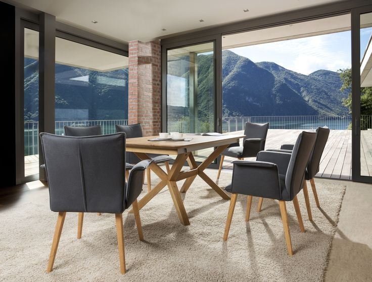 Perfect duet - T53 table and S56 armchairs. Modern idea for dining room. #KloseFurniture #woodentable #diningroom