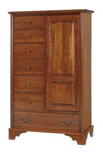 Amish Early American Chest of Drawers Armoire