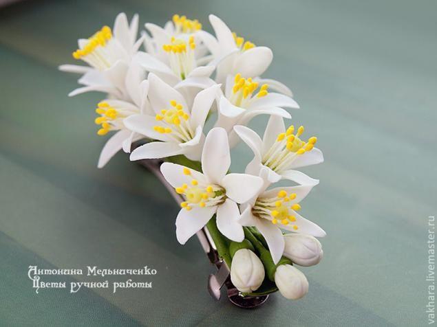 Flori din portelan rece și polimer argilă - Partea 5. Floare de portocal - Masters Fair - manual, manual