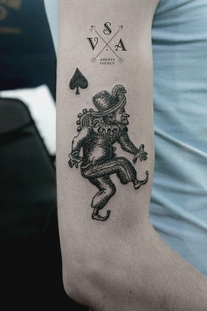 The joker tattoo...