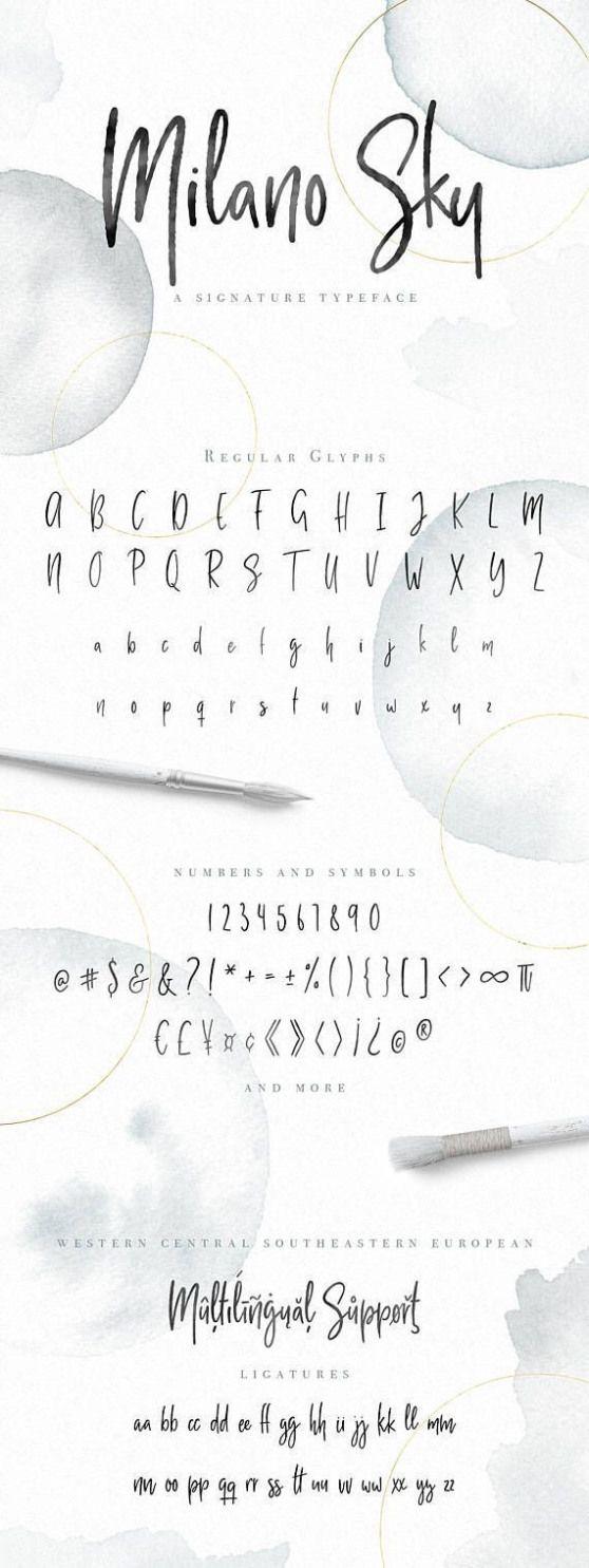 Feminine Schrift. Kopfzeilenschrift für die Blogs des Logos und mehr. Kommerzielle Nutzung Schriftart …
