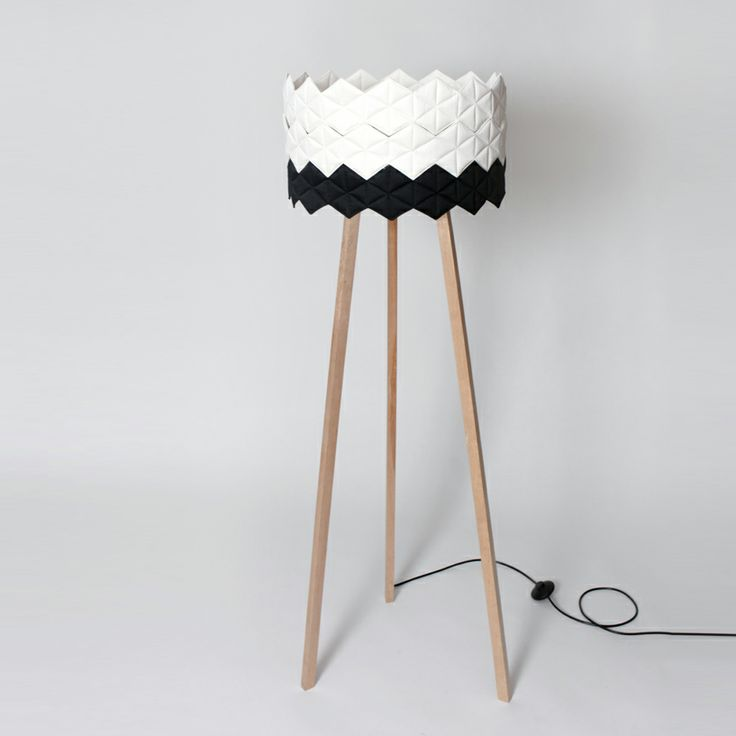 black&white floor lamp | by NIE/BO DESIGN