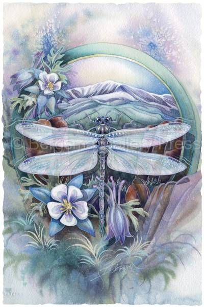 Journey to Paradise  dragonfly - love her dragonflies!!!
