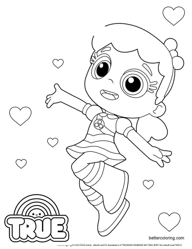 Free True and the Rainbow Kingdom Coloring Pages Clip Art