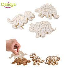 3 pçs/set Dinossauro Dinossauro Forma Cookie Cutter Biscuit Molde Do Bolo de Plástico Diferente Conjunto de Ferramentas de Cozimento Bolo Cortador de decoração(China (Mainland))