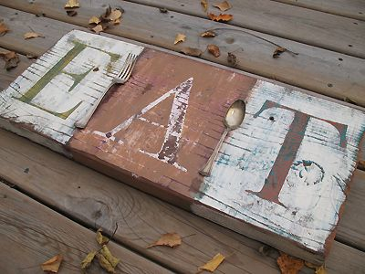 Distressed Eat Sign - Crafts by Amanda