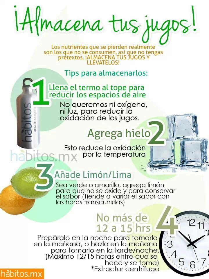 Almacena tus jugos...habitos.mx