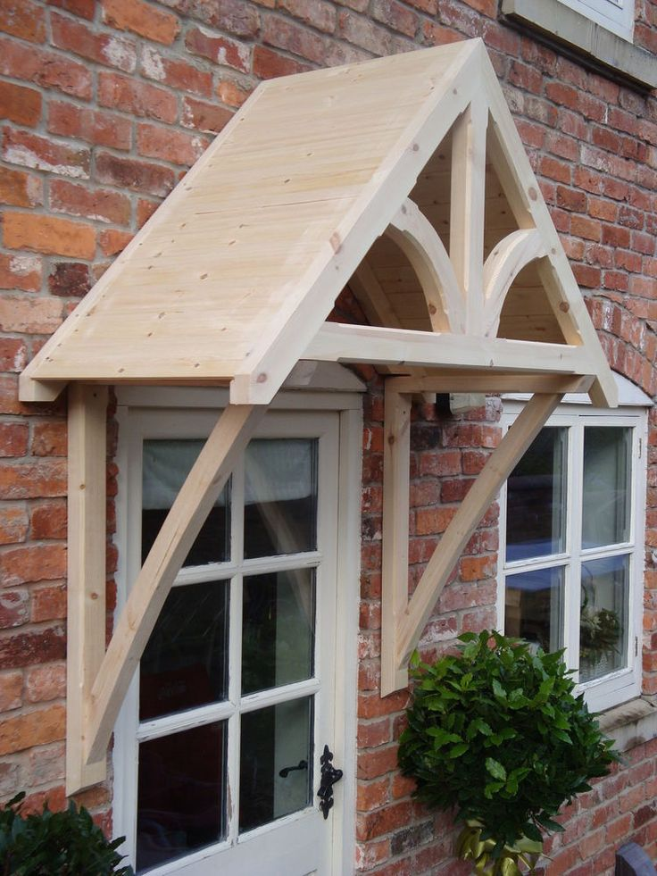 Timber Front Door Canopy Porch SHROPSHIRE DOOR CANOPIES curved gallows in Home, Furniture & DIY, DIY Materials, Doors & Door Accessories | eBay