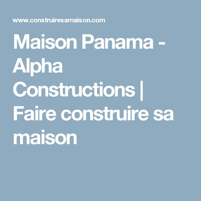 13 best Maison plan images on Pinterest Building, Bungalow and