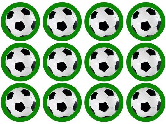 15 Football Soccer Cupcake Toppers Edible Etsy Soccer Party Soccer Cupcakes Soccer Birthday Parties