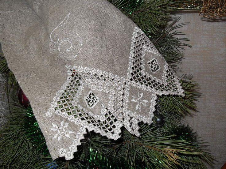 Древняя Скандинавия - белый,вышивка,мулине,лен,полотенца,салфетка,лен
