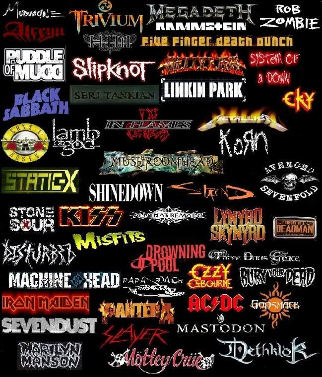 Linkin Park,ACDC,Disturbed,Five Finger Death Punch,Apocalyptica,Marilyn Manson,Papa Roach,Shinedown,Three Days Grace