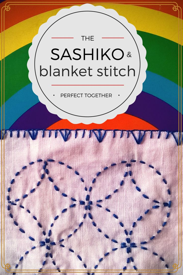 sashiko and blanket stitch together..... and perfect!