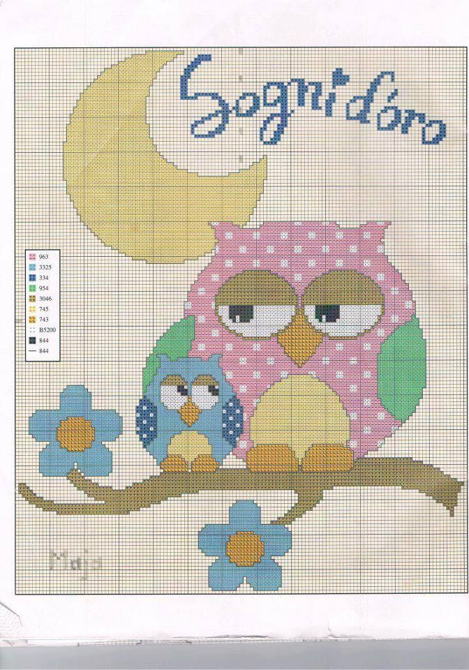 So. Many. Owl. Cross stitches! I can't keep up! Love owls!