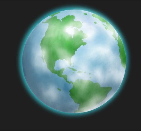 Enjoy a cute earth drawing in this advanced drawing tutorial.