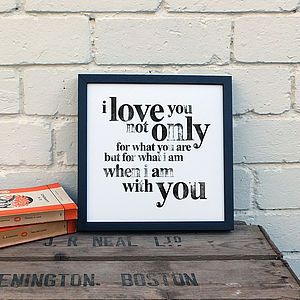Hand Stamped 'I Love You' Small Paper Prints
