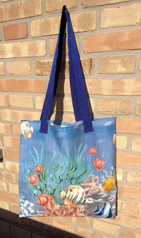 Voglio il mondo a colori: Da tovaglia a borsa mare