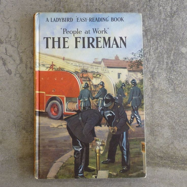 Vintage Ladybird Book  People at Work' The Fireman  Series 606B no.1 The Ladybird Easy Reading Book by Vera Southgate & J Havenhand Illustrated by John Berry Printed 1960's England