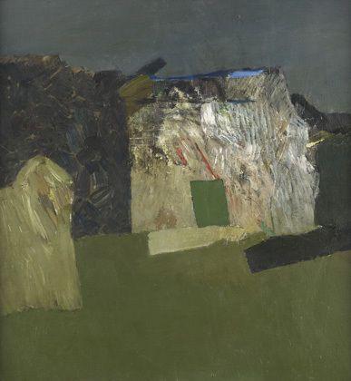 Keith Vaughan, Harrow Hill, Small Hut, 1967 on ArtStack #keith-vaughan #art