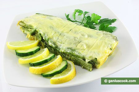 Asparagus with Eggs and Cheese