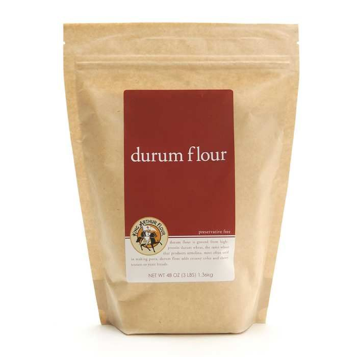 <p>This high-protein flour is ideal for pasta and bread.</p>  <p>Ground from extra-hard wheat (durum comes from the Latin word for hard), this flour is very high in protein and finely textured. Italians use it for pasta, where its strength allows shaping from simple (spaghetti) to complex (orechiette), yet it still yields a wonderfully al dente cooked dish. We love the distinct flavor and pretty pale yellow hue.</p>
