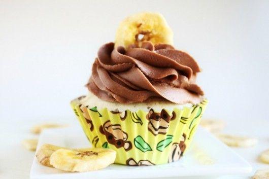 Chocolate covered banana cupcakes @createdbydiane