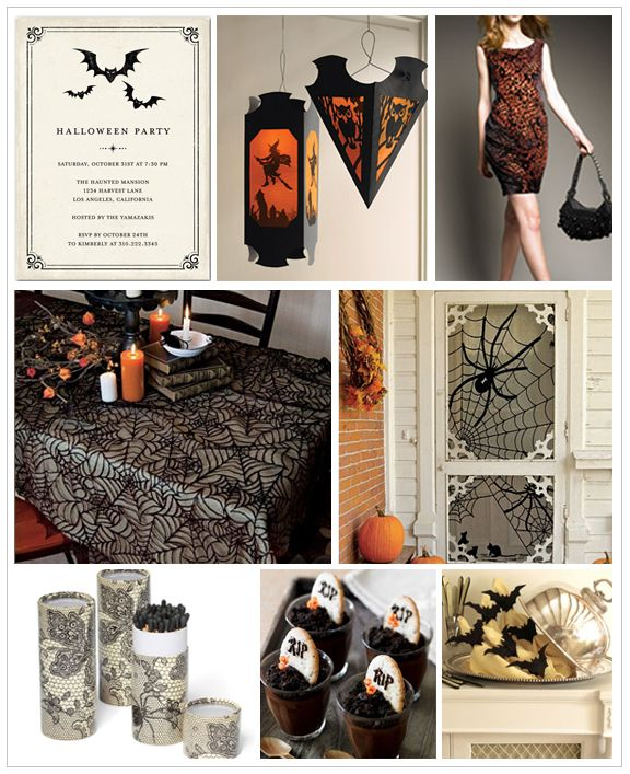 Halloween Party Inspiration Board By  Wedding Invitations, Style, Planning and Inspiration