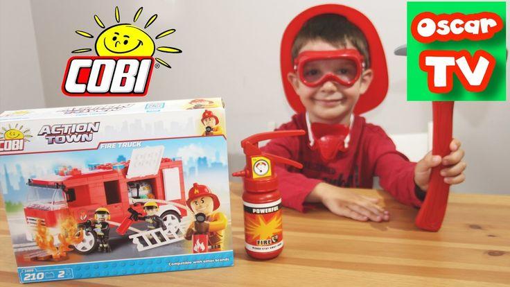 Играем в пожарного, строим пожарную машину из конструктора COBI