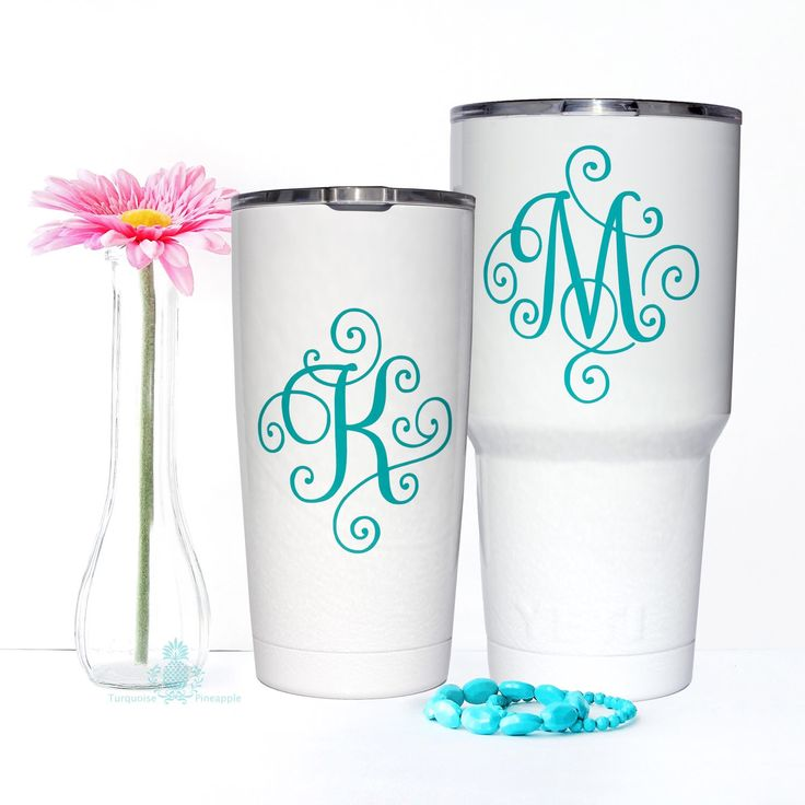 Yeti decal yeti decal for women monogram decal yeti tumbler decal yeti cup decal yeti monogram scroll letter
