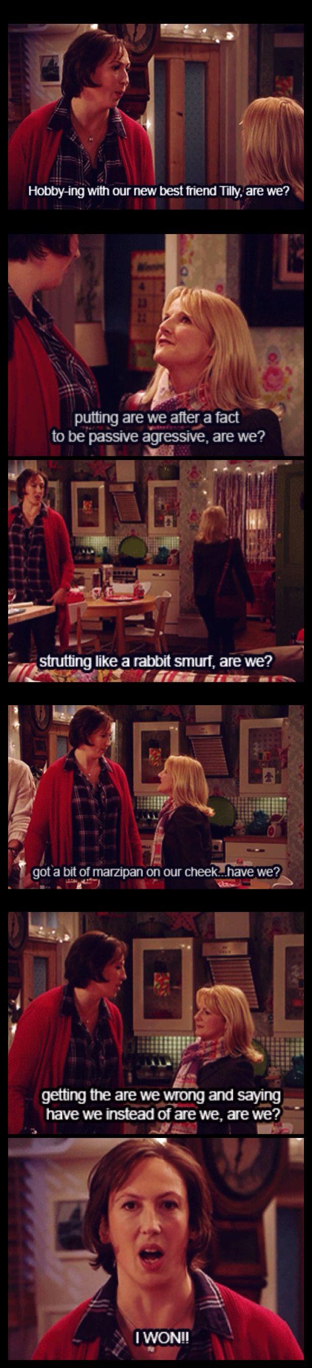 Miranda & Stevie ...rabid smurf! :D